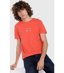 camiseta naranja-multicolor tommy hilfiger