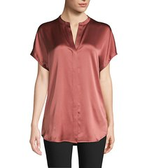 silk popover blouse