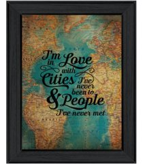 "trendy decor 4u cities and people by susan ball, printed wall art, ready to hang, black frame, 15"" x 19"""