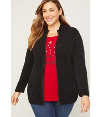 great gatherings zip-up cardigan