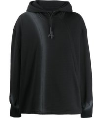 a-cold-wall* ribbed panel hoodie - black