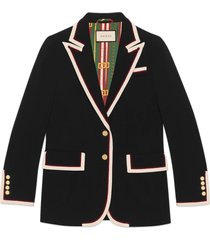 gucci stretch viscose jacket - black