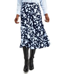 alfani petite button down midi skirt, created for macy's