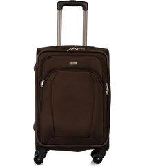 maleta de viaje pequeña en lona con cuatro ruedas giratorias 94866
