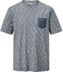 t-shirt babista marinblå::vit