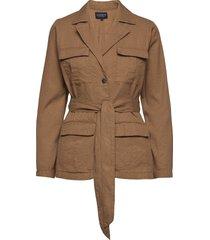 matilda linen blend blazer blazers overshirts brun lexington clothing