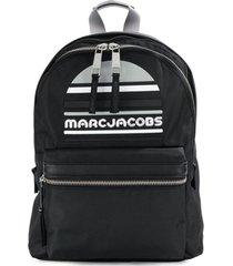 marc jacobs mochila grande de couro - preto