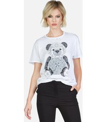 wolf bandana bear - l white