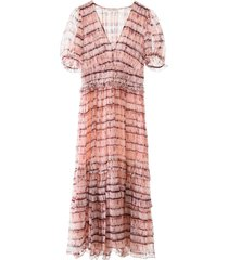 ulla johnson elodie tie-dye dress