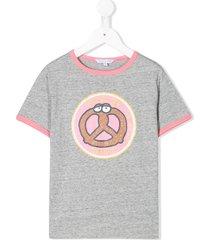 little marc jacobs ringer pretzel t-shirt - grey
