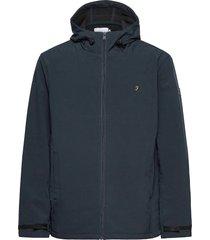 bective soft shell hooded jacket dun jack blauw farah