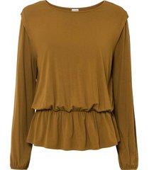maglia con maniche a palloncino (marrone) - bodyflirt