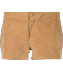 allsaints calix low-rise shorts - brown