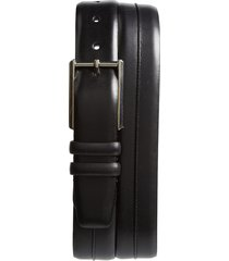 men's mezlan palma leather belt, size 44 - black