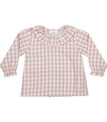 le petit coco checked blouse