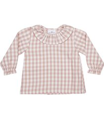 le petit coco checked blouse