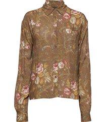 box shirt blouse lange mouwen bruin han kjøbenhavn