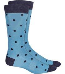 bar iii men's polka-dot socks, created for macy's
