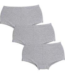 kit calcinha compra de lingerie algodão 3 peças
