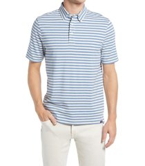faherty movement short sleeve polo shirt, size x-large in twilight stripe at nordstrom
