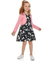 conjunto negro-blanco-rosa bee loop