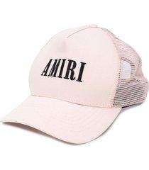 amiri logo mesh-panel baseball cap - pink