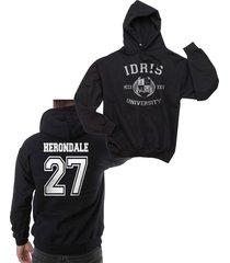 herondale 27 idris university shadowhunters unisex pullover hoodie s-3xl black