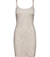 strap dress kort klänning beige rosemunde
