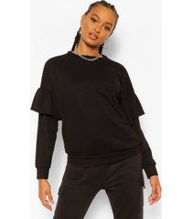 sweater met ruches, black