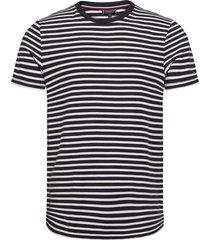 h ycomb stripe tee t-shirts short-sleeved svart tommy hilfiger tailored