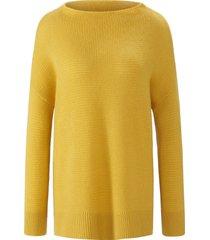 trui van 100% kasjmier met staande halsboord van include geel