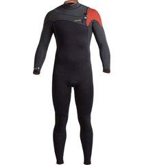 traje surf araucaria 4:3 negro haka honu