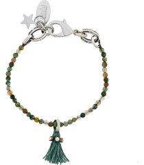 radà tassel bead bracelet - green