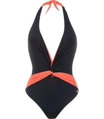 brigitte panelled swimsuit - blue