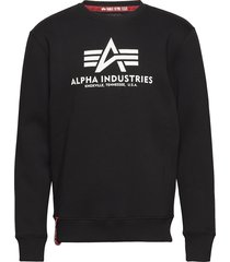 basic sweater sweat-shirt tröja svart alpha industries