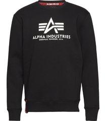 basic sweater sweat-shirt tröja svart alpha industries