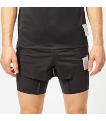 satisfy men's short distance 8 inch shorts - black silk - xl