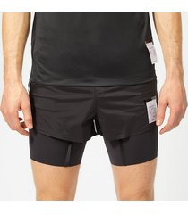 satisfy men's short distance 8  shorts - black silk - l - black