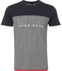 boss athleisure navy striped t-shirt 50384082