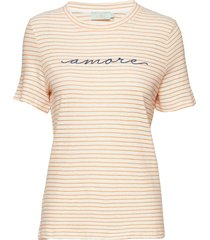 aletta tee t-shirts & tops short-sleeved creme morris lady