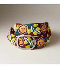 women's flower dance wool belt