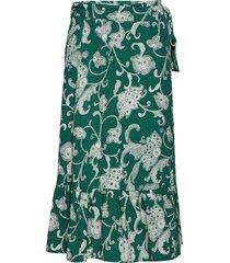 priscella sk knälång kjol grön part two
