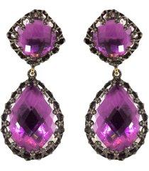 magenta quartz large jane drop earrings