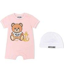 teddy bear onesie and hat set