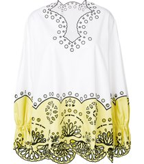 emilio pucci crocheted design blouse - white