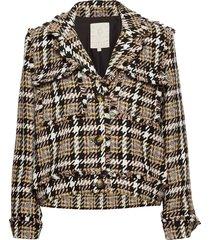 livia jacket blazers bouclé blazers brun minus