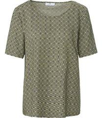 shirt minimal-print van peter hahn groen