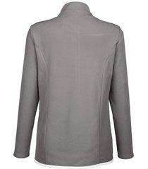 fleecejacka dress in grå::vit