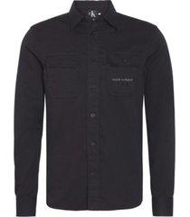 camisa utility monogram negro calvin klein