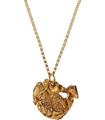 24kt gold-plated bronze rabbit necklace